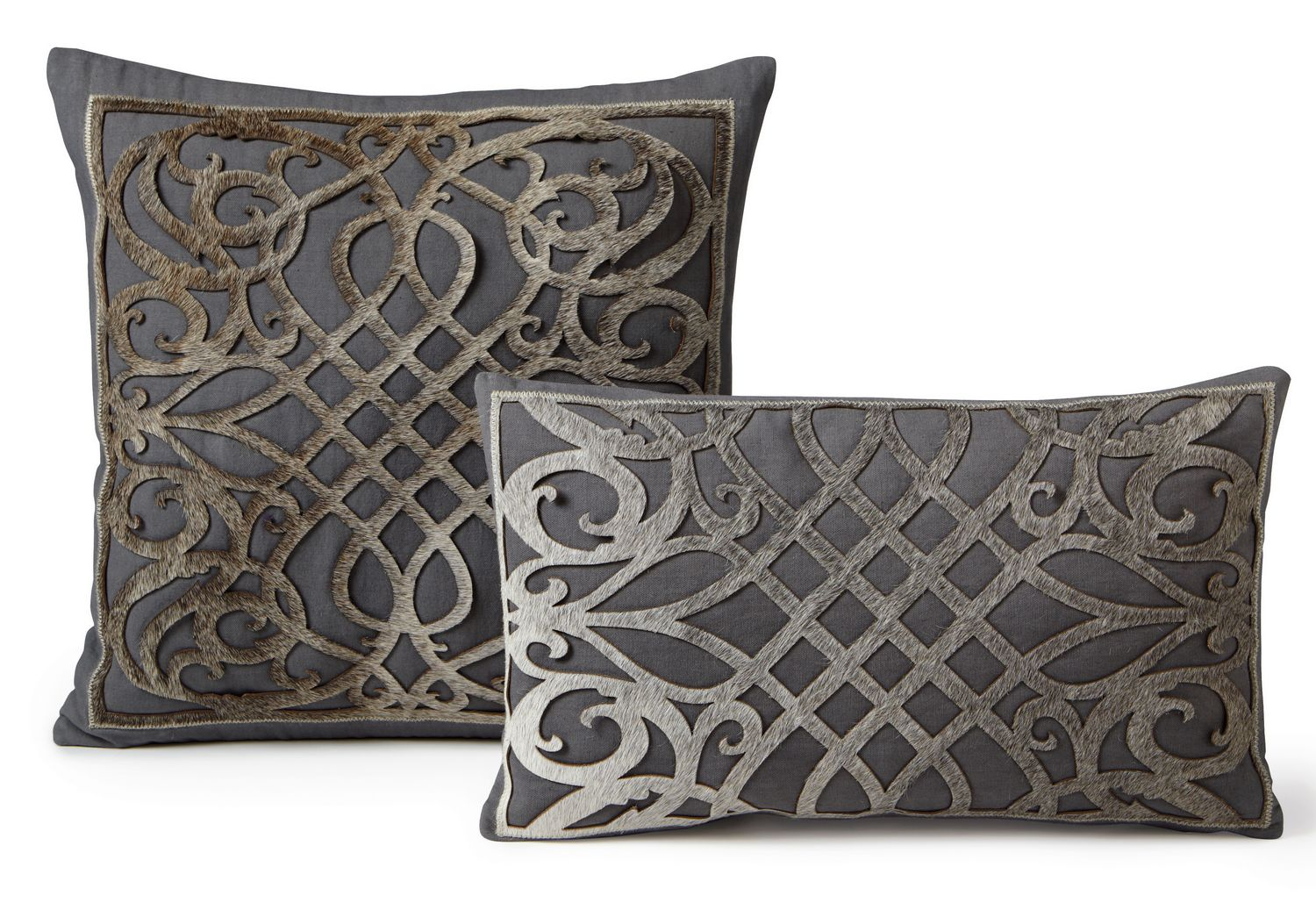 Fibre by Auskin Cowhide Dame Decorative Pillows