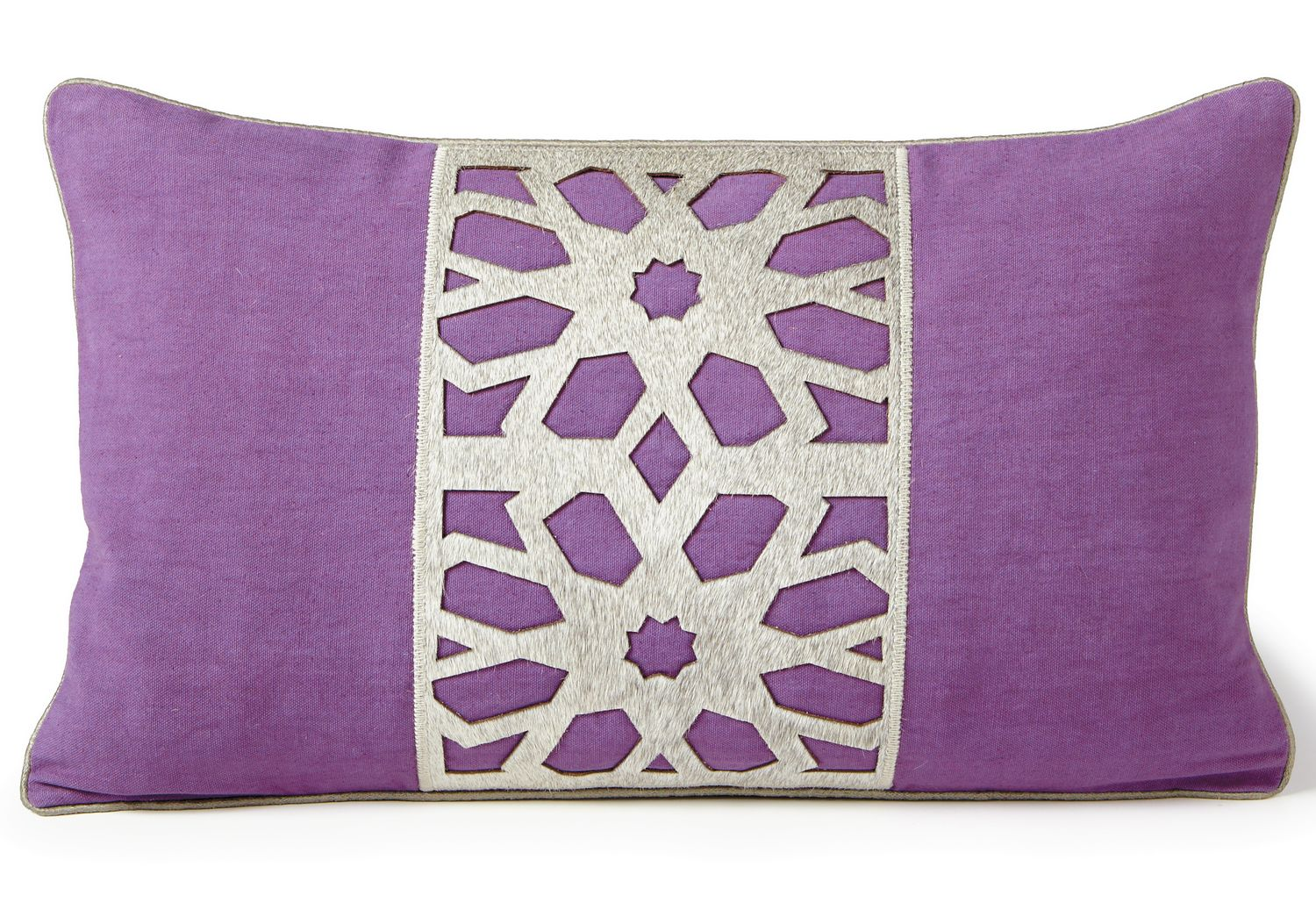 Fibre by Auskin Cowhide Flower Grape Decorative Pillows