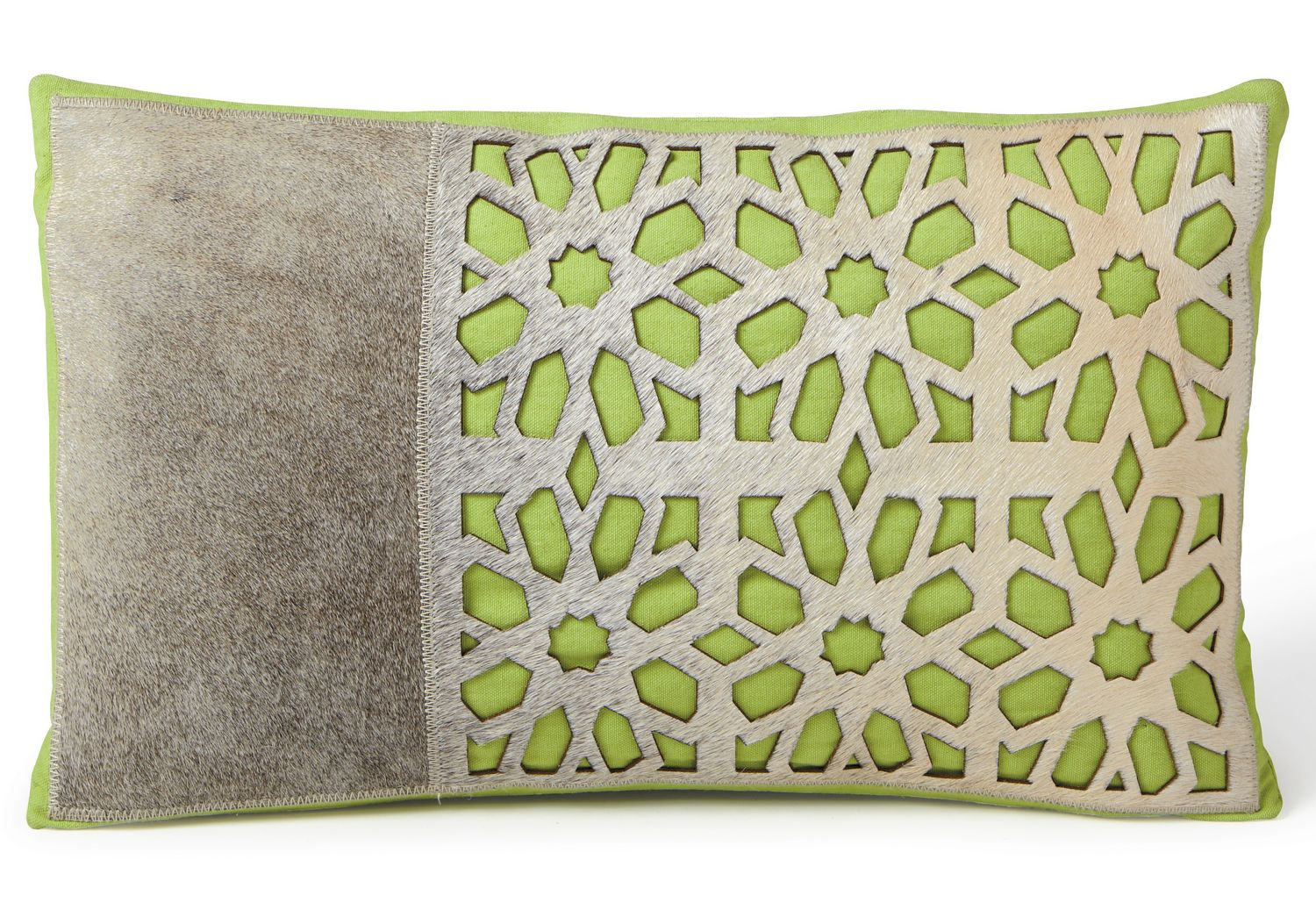 Fibre by Auskin Cowhide Petal Green Decorative Pillows