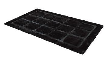 Auskin Shearling Cowhide Blocks Rug - Room View