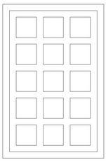 Auskin Shearling Cowhide Blocks Rug - Diagram