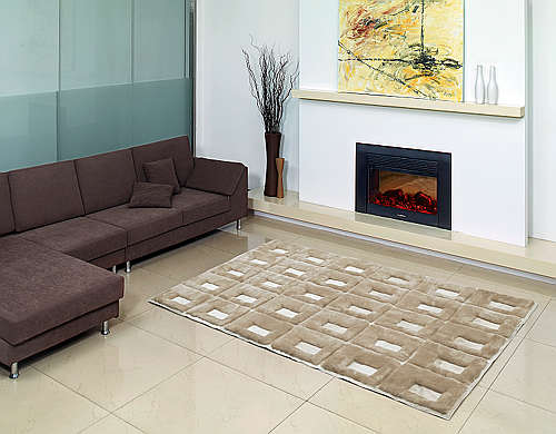 Fibre by Auskin Shearling Cowhide Collection Area Rug