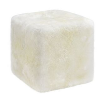 Auskin Lambskin Longwool Cube in Ivory