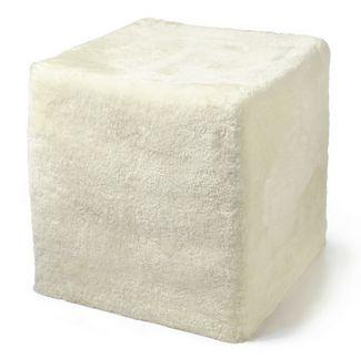 Auskin Lambskin Shortwool Cube in Ivory