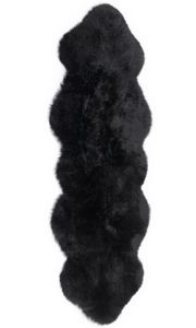 Fibre by Auskin Longwool Black Double Pelt Rugs.