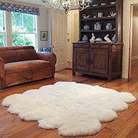 Auskin luxurious lambskin rugs are available in a range of sizes, grades and configurations that add texture, comfort, colour and style to the traditional home.