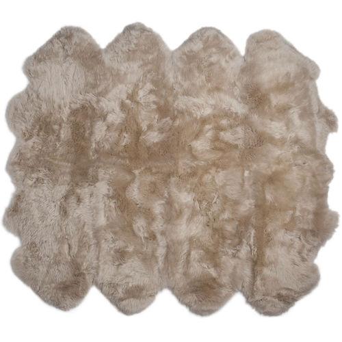 Fibre by Auskin Longwool Linen Octo Pelt Rugs.