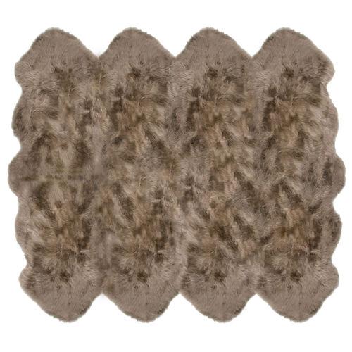Fibre by Auskin Longwool Taupe Octo Pelt Rugs.