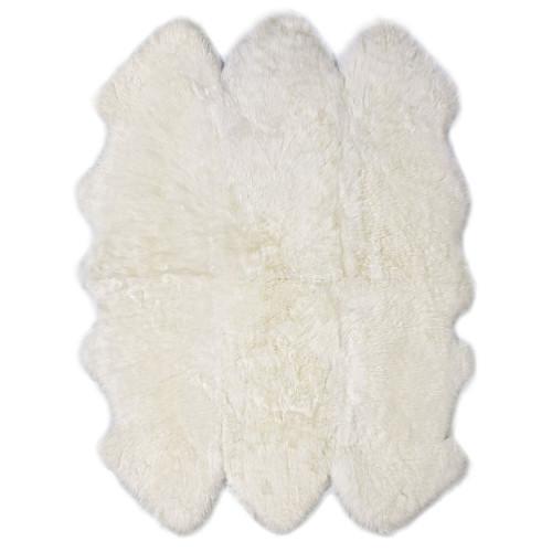 Fibre by Auskin Longwool Ivory Sexto Pelt Rugs.