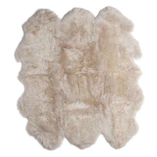 Fibre by Auskin Longwool Linen Sexto Pelt Rugs.