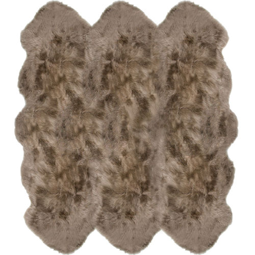 Fibre by Auskin Longwool Taupe Sexto Pelt Rugs.