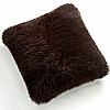 Fibre by Auskin Longwool & Shearling Sheepskin Decorative Pillows in Chocolate