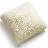 Fibre by Auskin Longwool & Shearling Sheepskin Decorative Pillows in Ivory