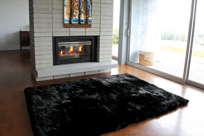 Fibre by Auskin Longwool Rug in Black