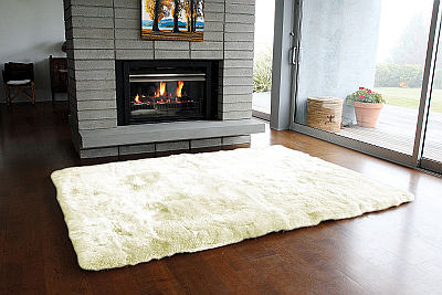 Fibre by Auskin Longwool Rug in Ivory