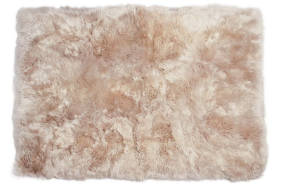 Fibre by Auskin Longwool Rug in Dark Linen