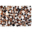 Auskin Circles Cowhide Rug - Opt Art rug design.