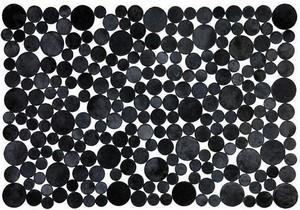 Fibre by Auskin Circles Cowhide Rug - Black.