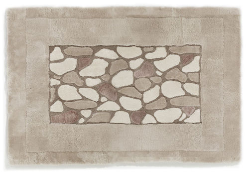 Auskin Shearling Nature/Stones Rug - Close Up