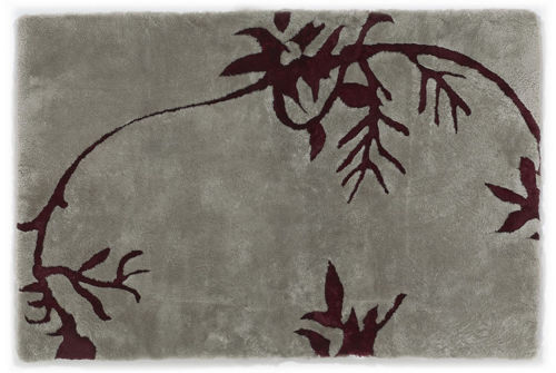 Auskin Shearling Nature/Vines Rug - Close Up