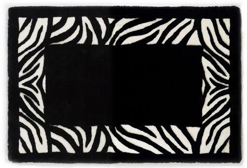 Auskin Shearling Organics/Zebra Rug - Close Up