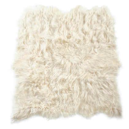 Auskin Artic Icelandic Sheepskin Six Pelt Rug in Natural Ivory