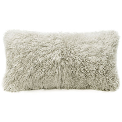 Fibre by Auskin Lambskin Curly  Pillow - Bamboo Color (11x22)
