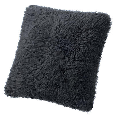 Fibre by Auskin Lambskin Curly  Pillow - Charcoal Color (22x22)