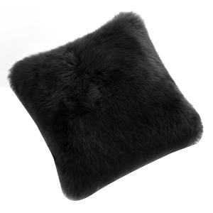 Fibre by Auskin Sheepskin Cushion in Black