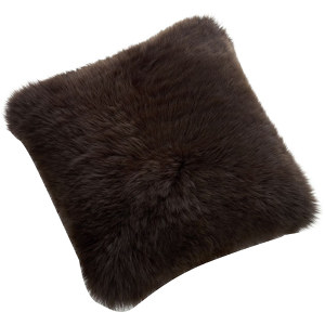 Fibre by Auskin Sheepskin Cushion in Chocolate