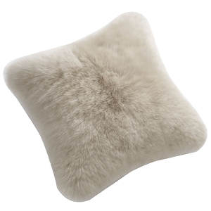 Fibre by Auskin Sheepskin Cushion in Linen