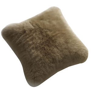 Fibre by Auskin Sheepskin Cushion in Taupe