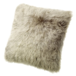 Fibre by Auskin Sheepskin Cushion in Vole