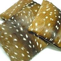 Axis Deer Fur Decorative Pillow