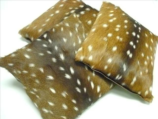 Axis Deer Fur Decorative Pillow