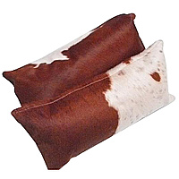 The cowhides used in these pillow are chosen from hides that allow the facing side of the pillow to keep it's unbroken natural pattern.