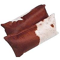Dual Color Cowhide Decorative Pillow