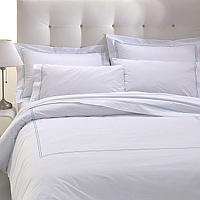 100% Egyptian long staple cotton. 250 thread count percale.
