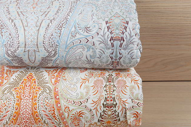 Bellino Paisley Coverlet  & Sham - Quilted