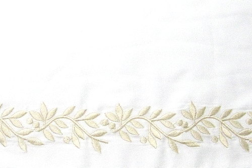 Bellino Fine linens Garland Embroidered Bedding