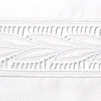 Bellino Lace projects beautiful leave embroidery with vertical cut rows.