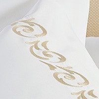 Bellino Florence is a simple vine like embroidery on sheeting with a clean look.