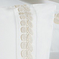 Bellino Londra embroidery features leaves closely placed together on a vine..
