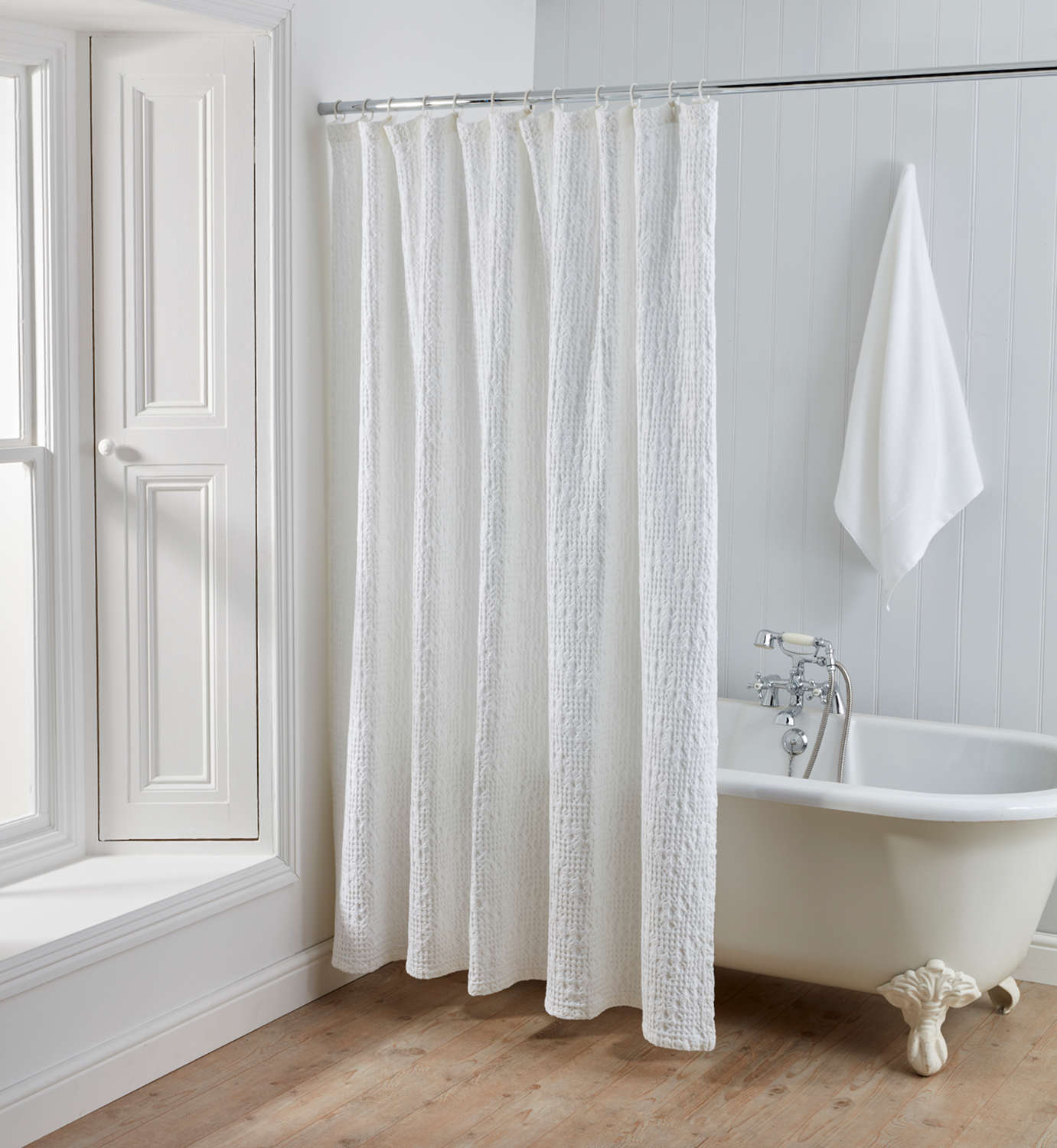 with curtains is the white features for easy beautiful in bathroom waffle this thin light print machine cotton curtain clean pin paisley shower a washable color lines