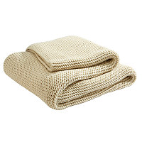 This gorgeous chunky knit throw is as comfortable as it is stylish.