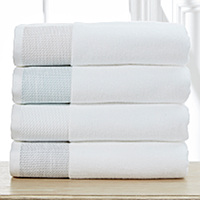 The Oxford towel collection is woven from 100% zero twist cotton which is both absorbent and durable.