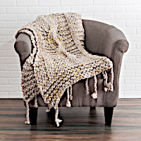Enjoy the beauty of these solid color knit throws with or without metallic foil.