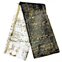 Choice of Stone to charcoal throw with gold foil or Ivory to stone throw with gold foil.