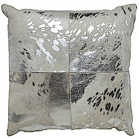 Gold or silver cowhide pillow.