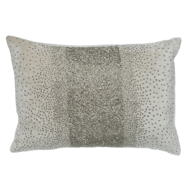 Cloud9 Design 601A Series Ivory Velvet Crystal Decorative Pillows